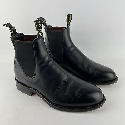 £199.99 • Buy RM Williams Comfort Turnout Black Leather Chelsea Boots UK 7G Made In Australia