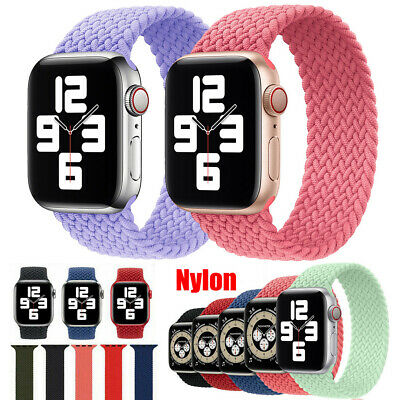 AU10.99 • Buy Elastic Nylon Strap Braided Solo Loop Band For IWatch Apple Watch Series 38 44MM