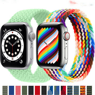 AU12.99 • Buy For Apple Watch IWatch SE Series 6 5 4 3 2 Braided Elastic Solo Loop Strap Band