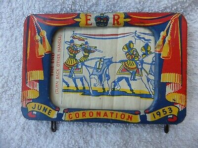 £6.99 • Buy Rare Vintage 1953 Coronation Tin Plate Toy Wind On View Of Coronation Working.