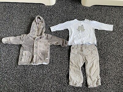 £7.99 • Buy Jean Bourget Baby Boys Designer Outfit Jacket Trousers Long T-shirt 12 Months