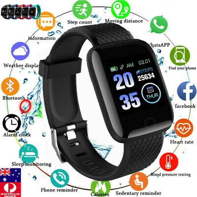 AU17.99 • Buy Smart Watch Band Sport Activity Fitness Tracker For Kids Fitbit Android IOS 116