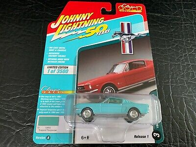 AU4.43 • Buy Johnny Lightning Ford Mustang Fastback 1965 Tropical Turquoise JLCG019 A 1/64