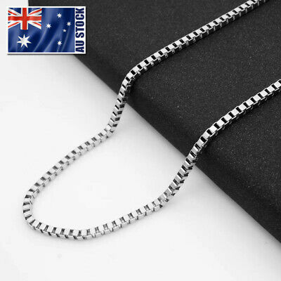 AU3.99 • Buy Wholesale Stainless Steel Square Box Chain Necklace For Pendants Mens & Womens
