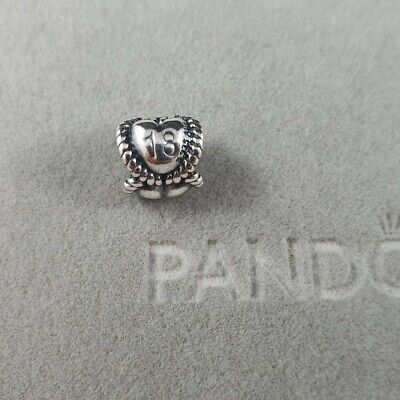 AU25 • Buy Authentic Retired Pandora Eighteen 18th Charm Sterling Silver - #791047