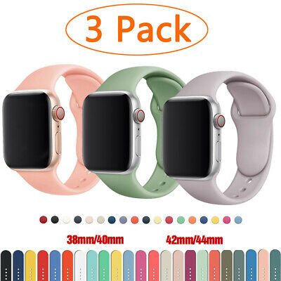 $ CDN6.96 • Buy 3 PACK Silicone IWatch Band Strap Sport For Apple Watch Series 6 5 4 3 SE 42mm