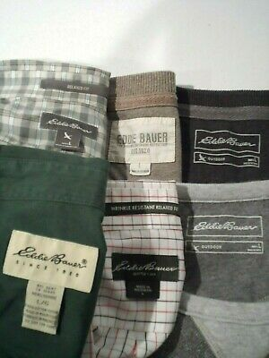 $19.99 • Buy Lot Of 6 Eddie Bauer Men's Shirt Size Large Button Down L/S S/S Polo Sweater Top