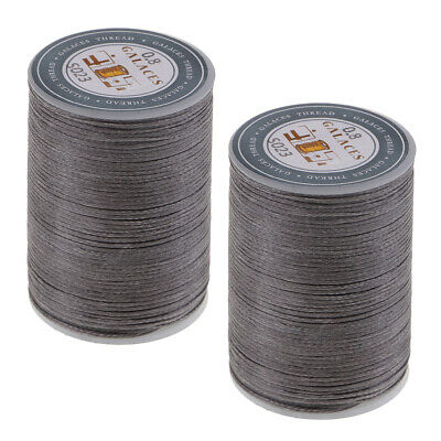 £4.55 • Buy 2 Rolls 98 Yards 0.8mm Leather/CANVAS Sewing Waxed Flat Thread For LeatherCraft
