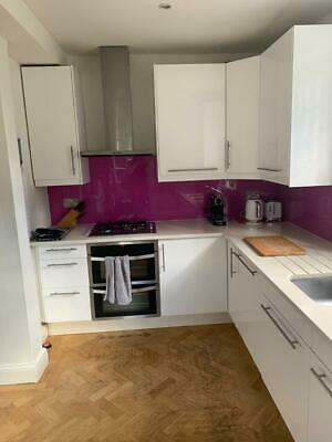 £500 • Buy Complete Ikea Used Kitchen - Gloss White With Quartz Worktop With Appliances