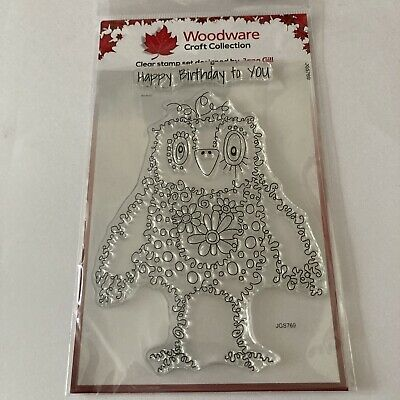 £2.50 • Buy Hugo, Fuzzy Friends Clear Stamp By Woodware. Size A6