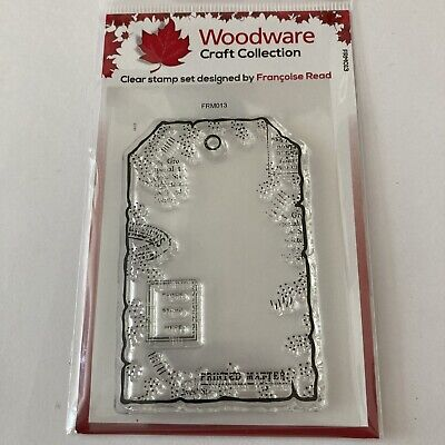 £1.50 • Buy Woodware Small Paper Tag Stamp Set FRM013