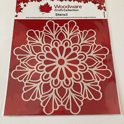 £2.20 • Buy Woodware Craft Collection Stencil FRST 038 Teardrop Mandala