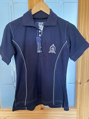 £14.99 • Buy Ladies Tagg Equestrian Smart Blue Fitted Polo Horse Riding T Shirt XS 8 NWT