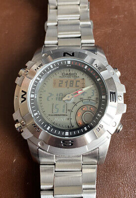 £90 • Buy Casio Multi-function Watch Outgear Thermometer Moon Phase AMW704D UK Seller