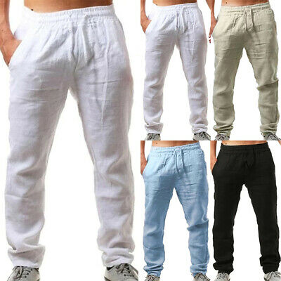 $20.89 • Buy Mens Baggy Loose Yoga Gym Pants Elastic Waist Trousers Casual Tracksuit Bottoms