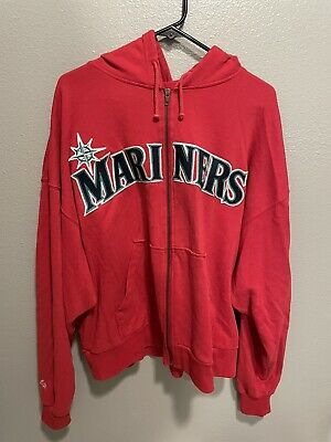 $29.99 • Buy MLB Seattle Mariners Majestic Red Zip Up Hoodie Size Adult XL