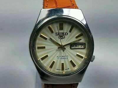 $ CDN22.39 • Buy Vintage Seiko 5 Mechanical Automatic Movement Day, Date Dial Mens Watch J86