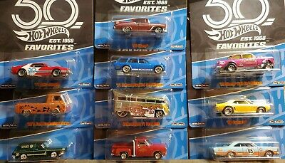 $ CDN125.87 • Buy 2018 HOT WHEELS 50th ANNIVERSARY FAVORITES COMPLETE SET OF ALL 10 CARS