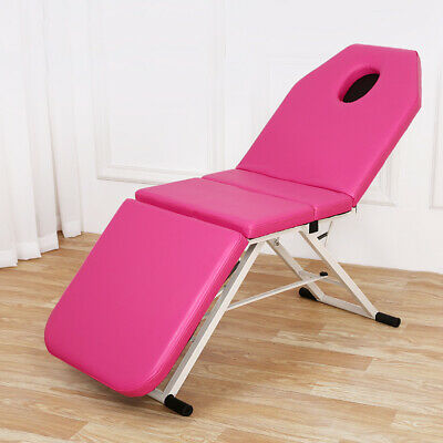 £140 • Buy Portable Folding Massage Table Bed Therapy Beauty 3 Sections Couch Salon Pink