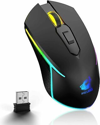 AU20.89 • Buy Rechargeable Wireless Gaming Mouse USB Ergonomic Optical For PC Laptop MAC PS4