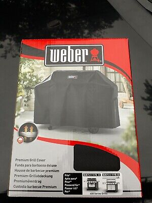 $ CDN124.64 • Buy Weber 7135 Premium Grill BBQ Cover - For GENESIS 2 400 Series BRAND NEW SEALED