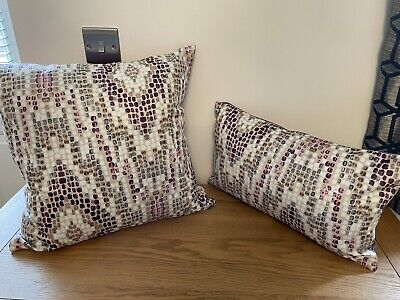 £12.99 • Buy Clarke And Clarke Mosaic Abstract Geo Contemporary Cushion Cover