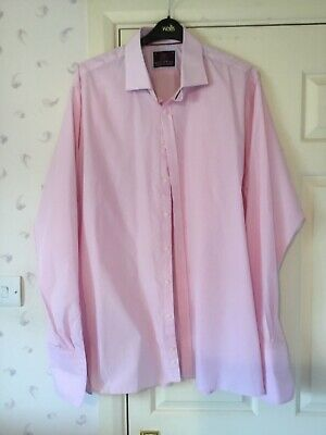 """£10 • Buy M&S Sartorial Pink Check Shirt Size 19"""" 48 In Excellent Condition"""
