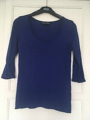 £4.99 • Buy Ladies Marks And Spencer Autograph Weekend Blue Size 10 Top