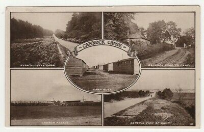 £5.99 • Buy Cannock Chase Military Camp Staffordshire Real Photo Multiview Postcard C.1912