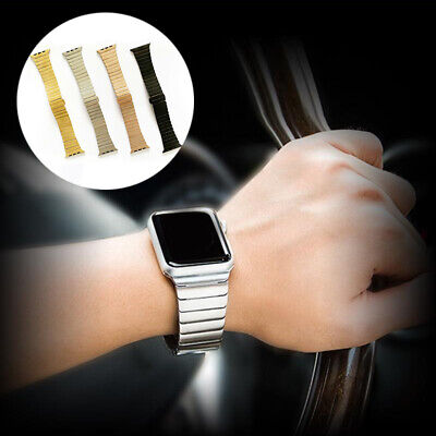 $ CDN17.14 • Buy Stainless Steel Strap Metal IWatch Band For Apple Watch Series 6 5 4 3 2 38-44mm