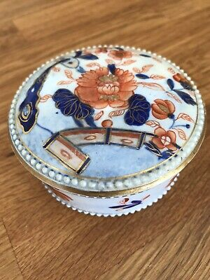 £35 • Buy Pretty Masons Ironstone Antique Trinket Box In Japan Pattern With Gilding