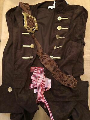 $41.24 • Buy Disney Store Jack Sparrow Mens Costume Size Large 36-38  - Brand New With Tags