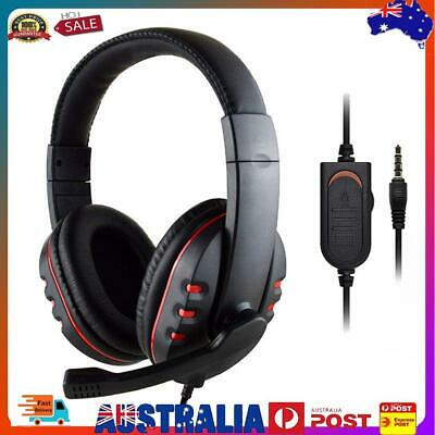 AU17.79 • Buy 3.5mm Wired Gaming Headset Headphones With Mic For PS4 Xbox One PC (Red)