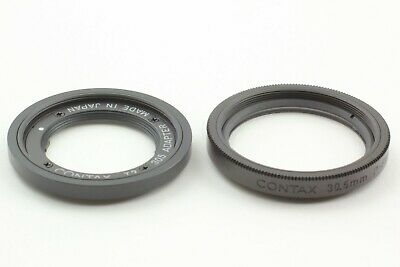 $ CDN251.76 • Buy [ MINT Set ] Contax T3 30.5mm Adapter + P-filter Black For T3 From Japan