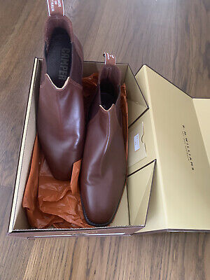 AU400 • Buy RM Williams Sydney Boots Dark Tan 11.5 G Fit Only Worn Once!! RRP $595