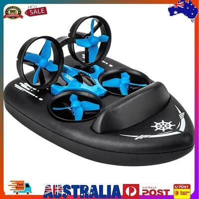 AU33.66 • Buy 3 In 1 Triphibian RC Drone Land Water Air Three Model Flying Air Boat Toys