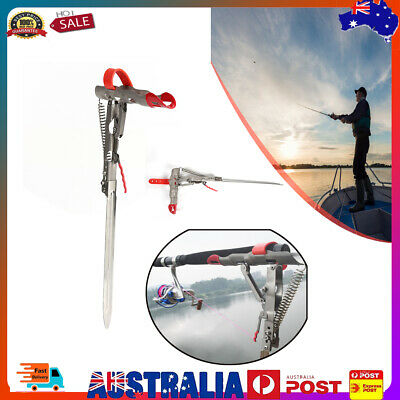 AU24.94 • Buy Foldable Automatic Spring Fishing Pole Bracket Durable Outdoor Fishing Gear