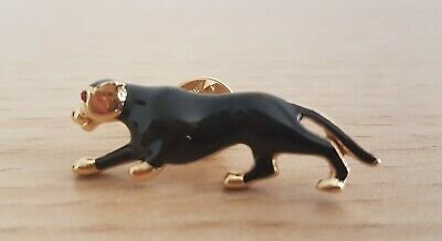 £7.50 • Buy Small Black Enamel Panther Stick Pin Brooch