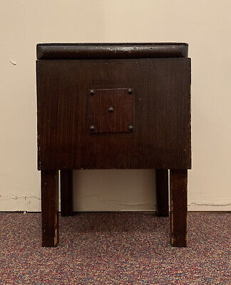 £9.99 • Buy Vintage Wooden Sewing/ Knitting/ Craft Storage Box Cabinet On Legs - Side Table