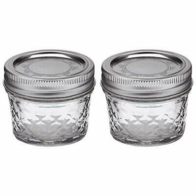 $8.32 • Buy 2-Ball Mason 4Oz Quilted Jelly Jars With Lids And BandsIdeal For Preserving Jams