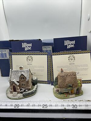 £9.99 • Buy Lilliput Lane Cottage The Gingerbread Shop 642 & Ladybird Cottage 791 Boxed Deed