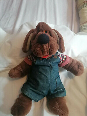 £10 • Buy VINTAGE 1980's WRINKLES DOG HAND PUPPET By GANZBROS.