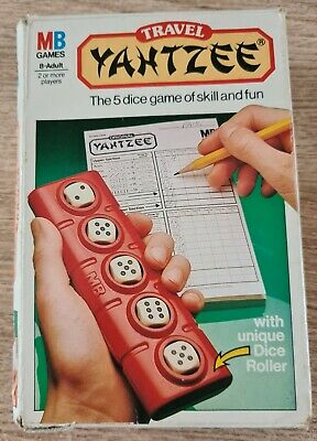 £5.99 • Buy MB Games Vintage 1983 Original Yahtzee 5 Dice Travel Game Of Skill And Fun