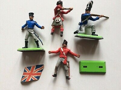 £2.99 • Buy 4 X Vintage Plastic 'Britains Deetail' NAPOLEONIC SOLDIERS (for Spares/repair)
