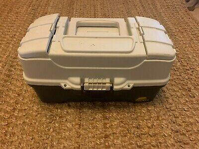 $ CDN27.07 • Buy Plano Tackle Box  With FISHING LURES Reel And Much More Full