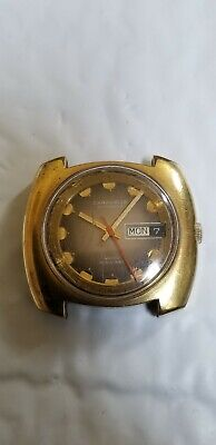 $24.99 • Buy Vintage Swiss Made Caravelle Automatic Day Date Water Resistant Wristwatch