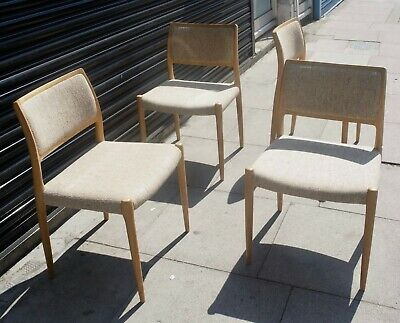 £1495 • Buy A Set Of Four Vintage 1970s Danish Moller 80 Oak Dining Chairs