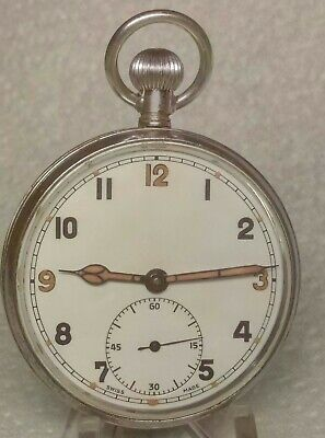 £100 • Buy WW2 British Military G.S.T.P. TISSOT Cal 43  Pocket Watch Fully Serviced VGC