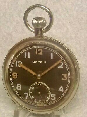 £100 • Buy WW2 MOERIS Cal 19H GSTP BRITISH ARMY POCKET WATCH GOOD CONDITION FULLY SERVICED