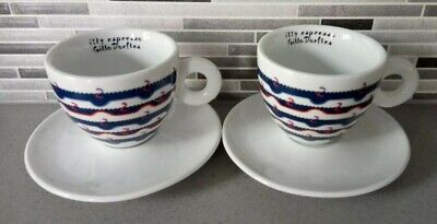 £29.99 • Buy Illy Art Collection Cappuccino Cup & Saucer X2 Designed By Gillo Dorfles **vgc**